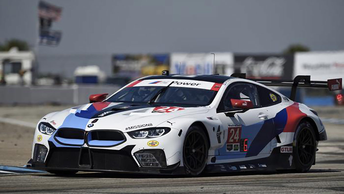 bmw m8 gte hits the streets of long beach rahal letterman lanigan. Black Bedroom Furniture Sets. Home Design Ideas