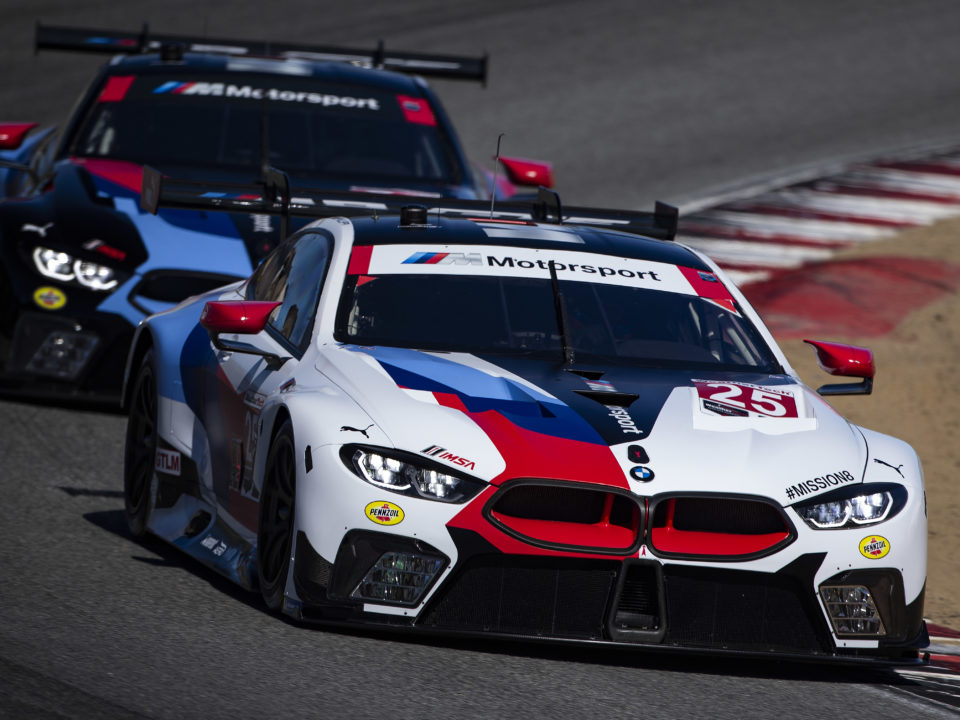 bmw m8 gte earns second consecutive season victory and third bmw win in four years at laguna. Black Bedroom Furniture Sets. Home Design Ideas